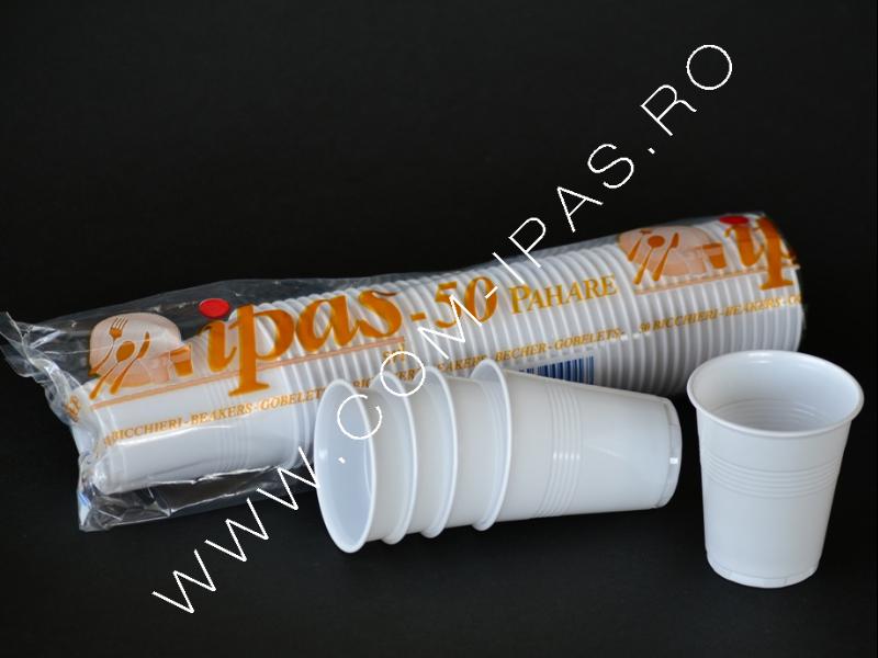Pahar plastic alb