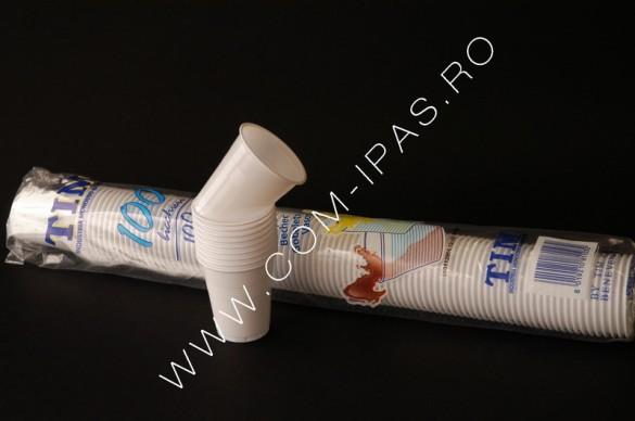 Pahar alb ps C100 TIM